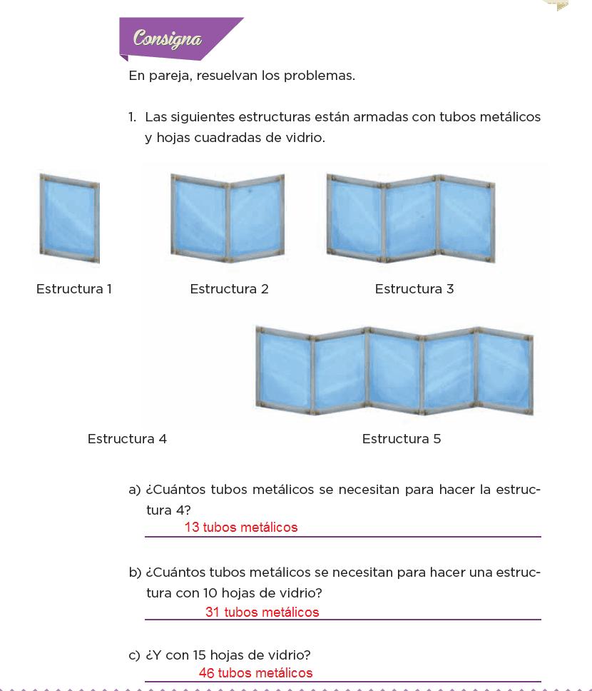 Respuestas Estructuras secuenciadas - Desafíos matemáticos 6to Bloque 5to 2014-2015
