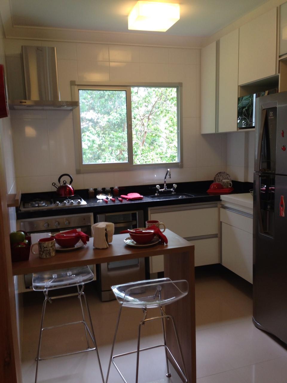 Fui Morar Numa Casinha Apartamento Modelo Decorado  Feito Por Mim! # Cozinha Pequena E Quadrada