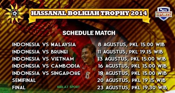 Jadwal Siaran Langsung Timnas Indonesia U-19 Hassanal Bolkiah Trophy 2014
