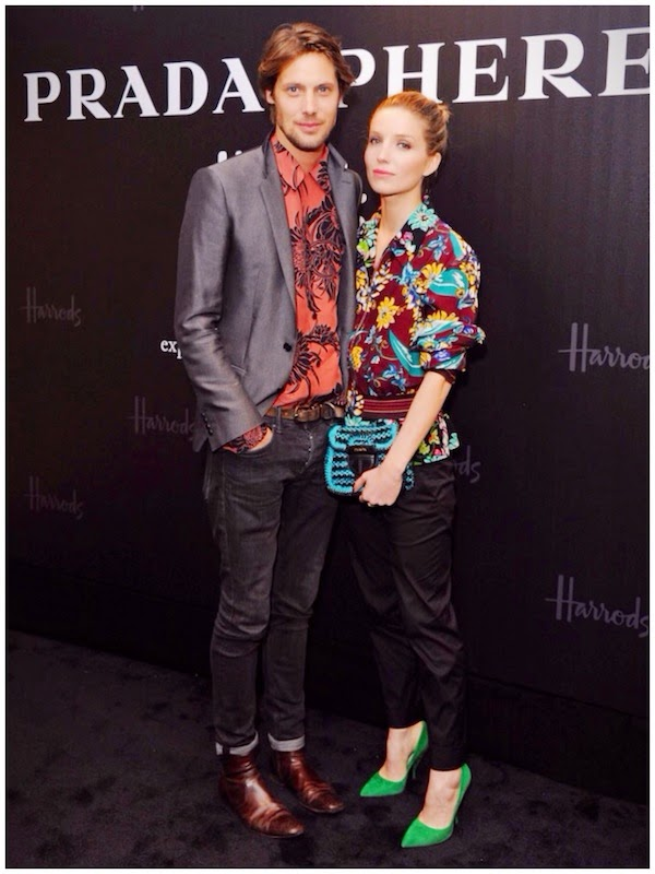 James Rousseau in Prada - Prada and Harrods Present Pradasphere