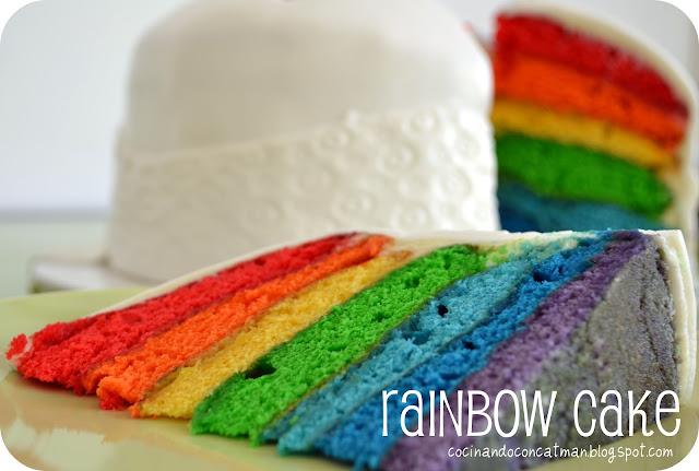 Rainbow Cake (Tarta Arcoiris)