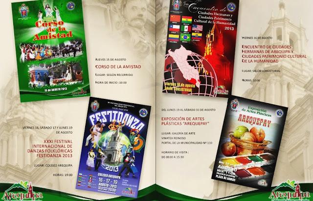 Programa de Festejos 473 Aniversario de Arequipa - II Parte (agosto)