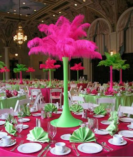 Carnival parties decor, centerpieces