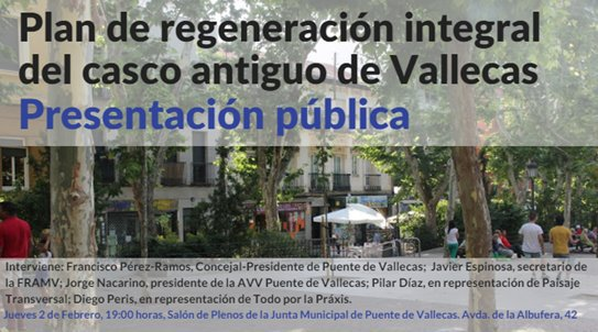 2 febrero Presentación en Vallecas