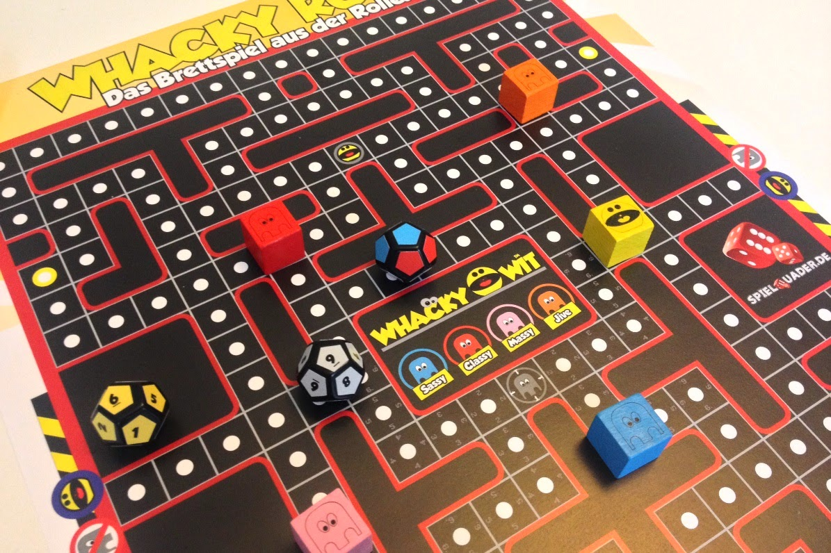 whacky roll whacky wit pac man board game review