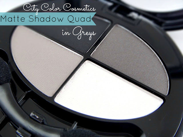 City Color Cosmetics Matte Shadow Quad in Greys Review, Photos, Swatches — A Modern Mrs.
