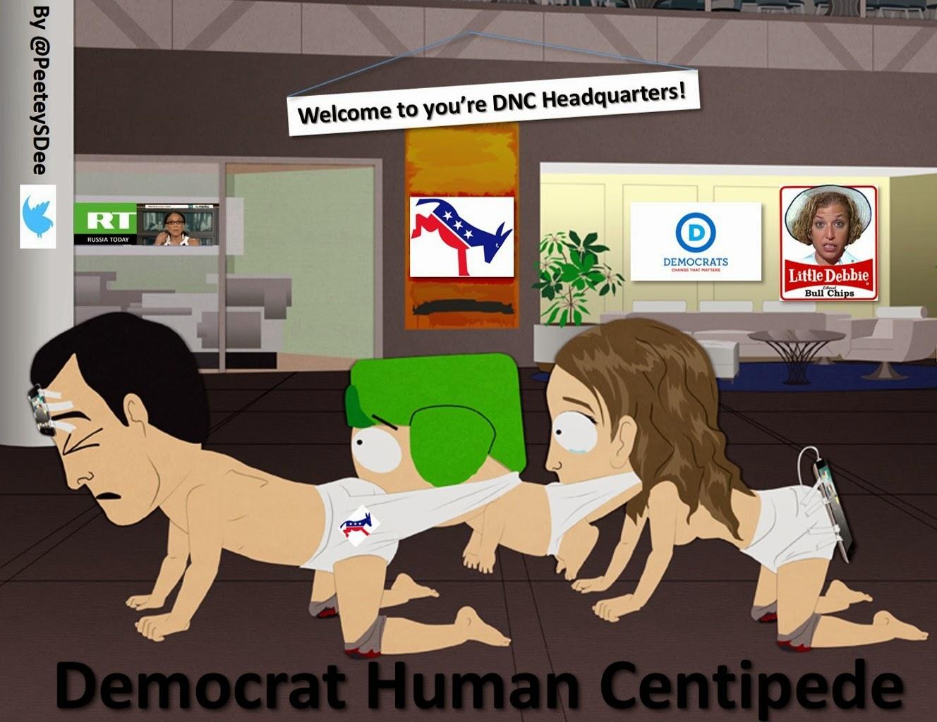 Democrat Human Centipede