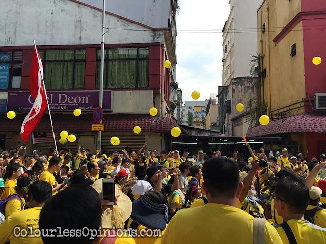 bersih 4 yellow balloons jalan tun perak