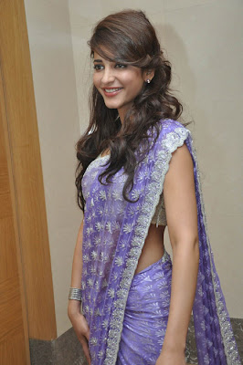 Cute shruthi in a designer saree