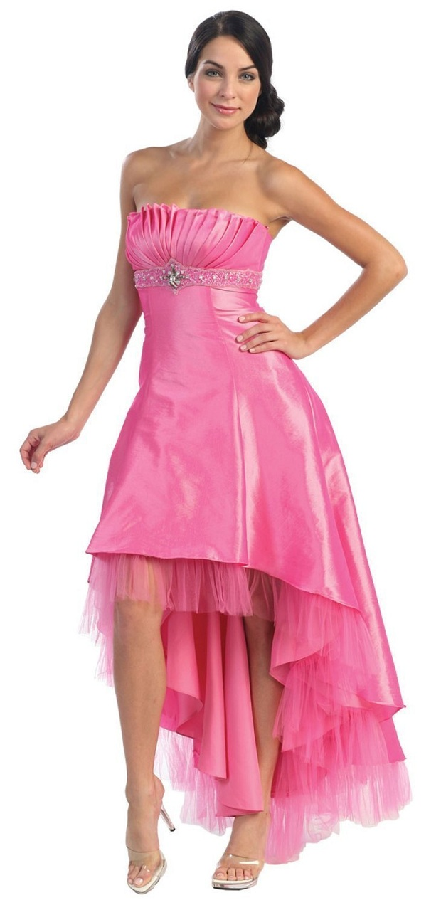 Fashion Trends Strapless High Low Junior Prom Party Cocktail Dresses