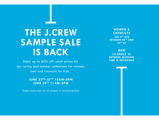 fashionably petite: J.Crew Sample Sale - 6/23 - 6/28/15