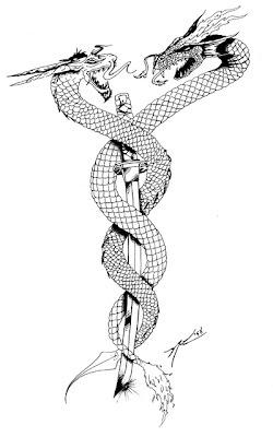 Gambar Tattoo Naga Triba