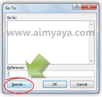 Gambar: Memanfaatkan dialog Go to untuk menemukan error di Microsoft Excel
