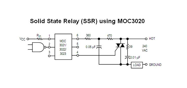 Duvss Home Brews Solid State Relay SSR Using MOC - Solid state relay using triac