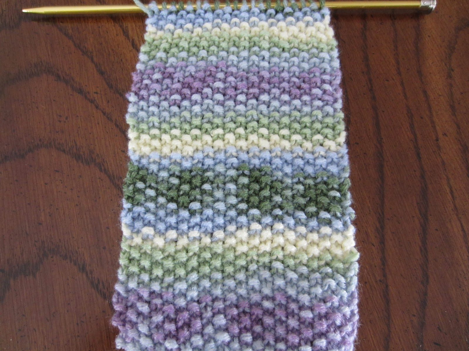 My Patchwork Quilt: A NEW SCARF FOR SADIE-SEED STITCH