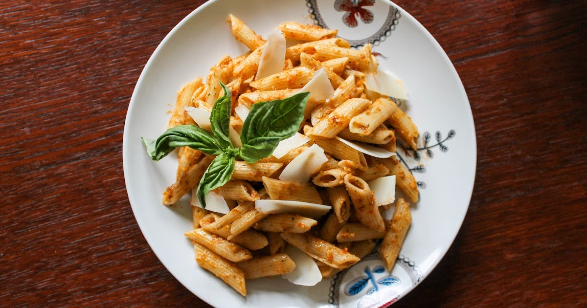 ... Table: Penne with Tomato and Almond Pesto (Pesto Alla Trapanese