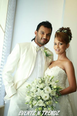 Her Bridegroom was Janaka Thilakarathne who is a businessmen from