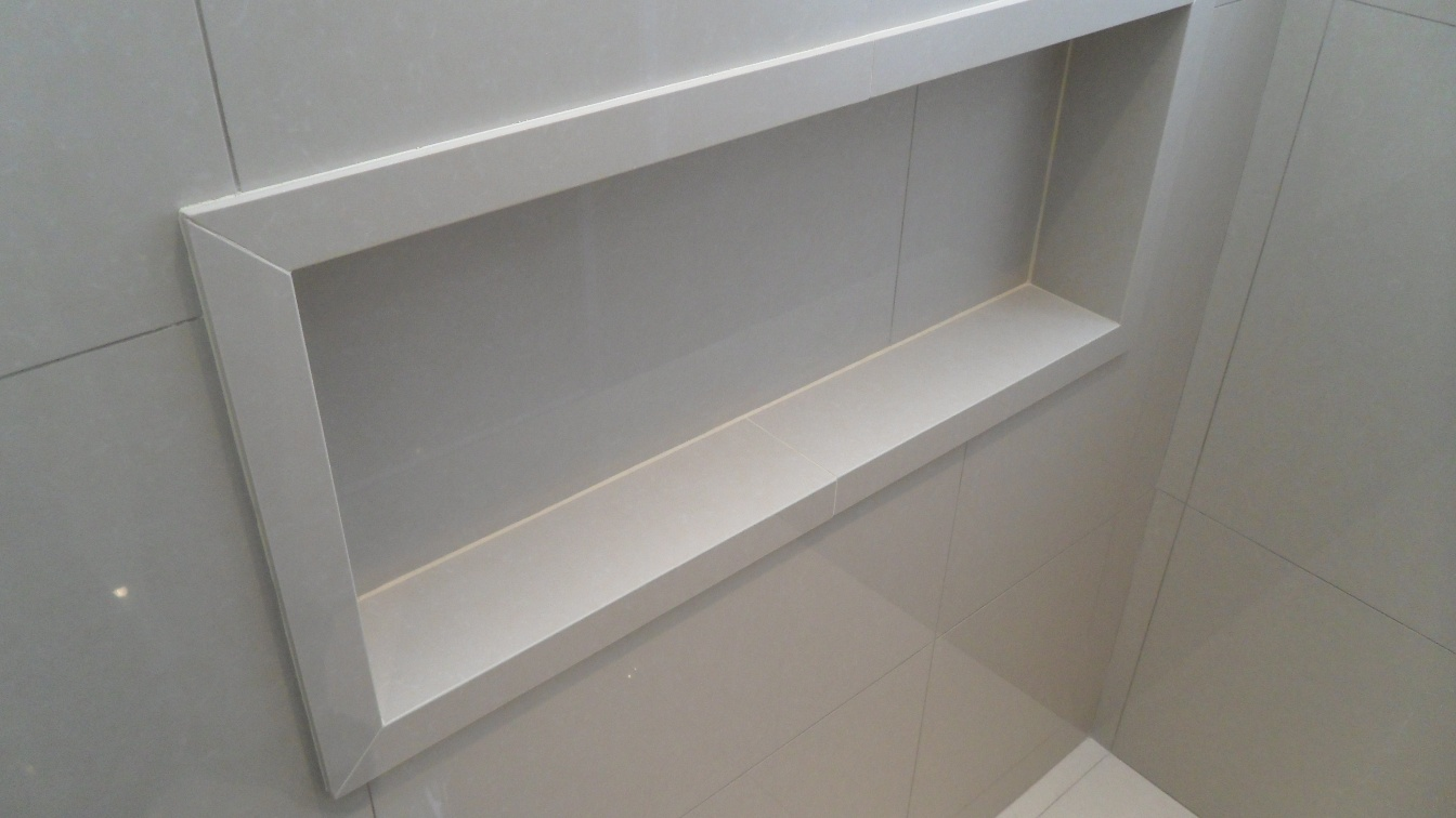 Bel Taglio , cortes especiais em porcelanato Bancada porcelanato 60 x 60 Ge -> Nicho Banheiro Porcelanato