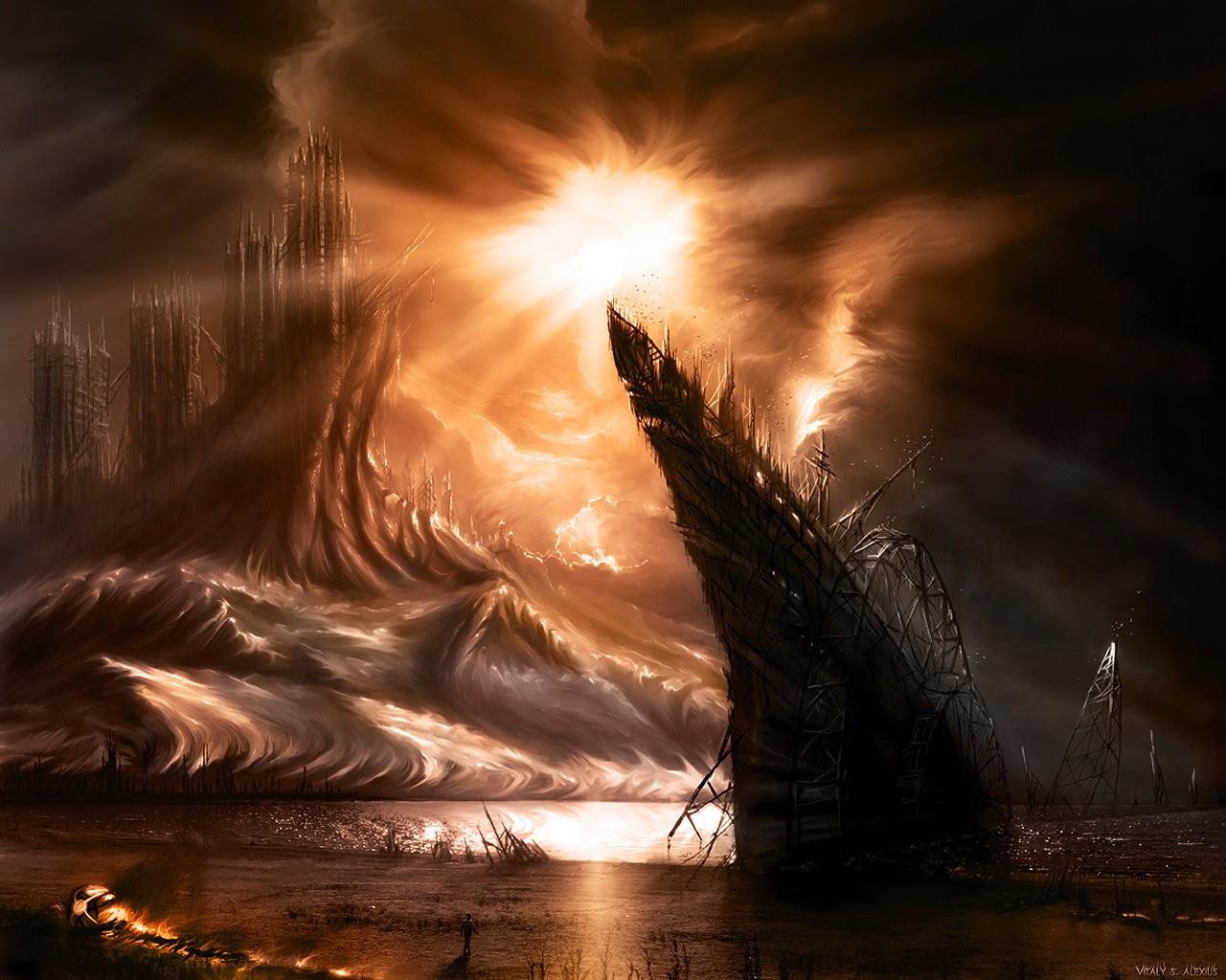 Sun in Dark World HD Wallpaper