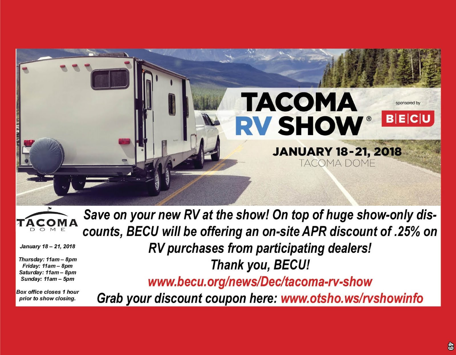 Tacoma RV Show @ The Tacoma Dome!!