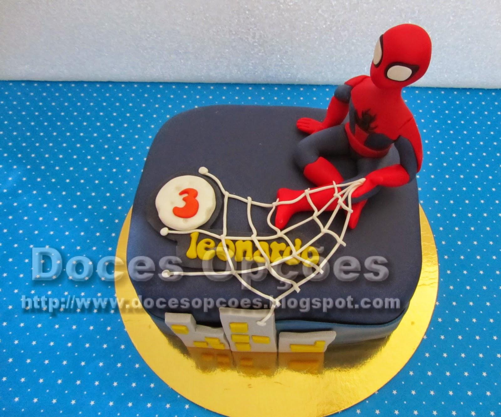 bolo aniversário homem aranha