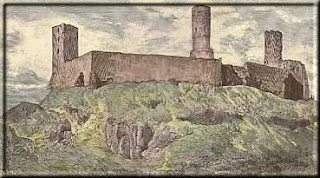 Zamek Chęciny - rysunek Wojciecha Gersona