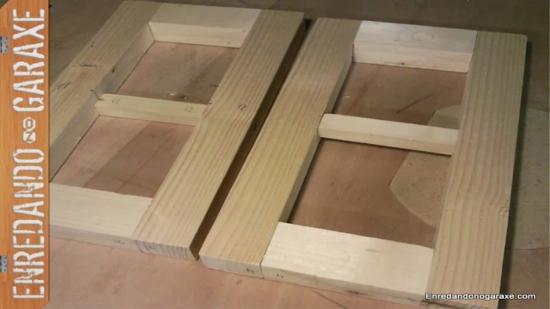 How to make the small cabinet sides struture with my router jigs. woodworking.enredandonogaraxe.com