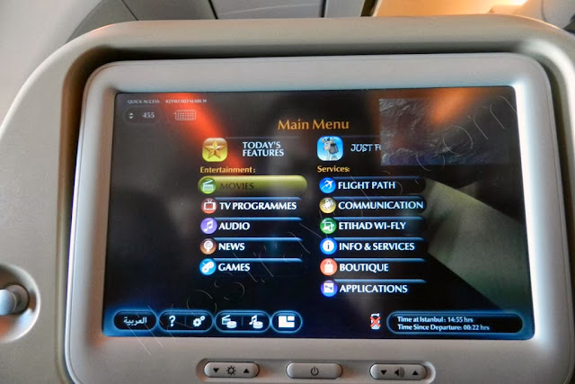 Etihad E-BOX In-flight Entertainment System On A330 Istanbul - Abu Dhabi