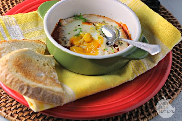 Baked Eggs in Spicy Habanero Sauce #SauceOn #shop