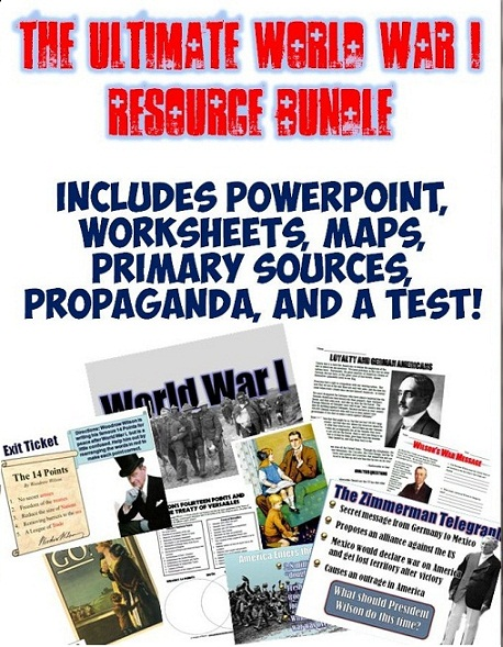 students of history the ultimate wwi unit resource bundle. Black Bedroom Furniture Sets. Home Design Ideas