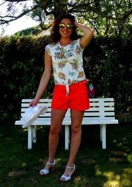 shorts naranja butano
