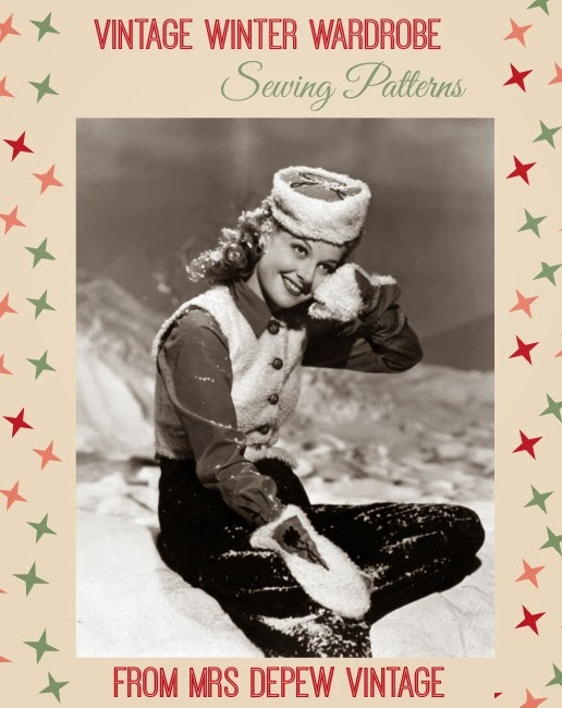 Vintage Winter Wardrobe Sewing Patterns from Mrs Depew Vintage - Va ...