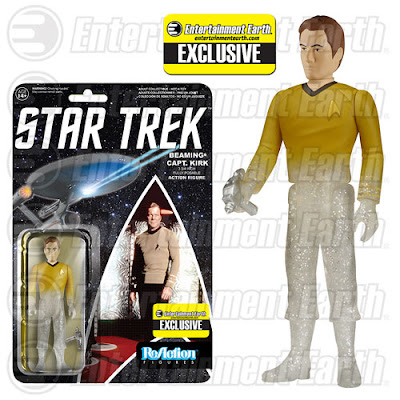"Entertainment Earth Exclusive Star Trek: The Original Series ""Beaming"" Captain James T. Kirk ReAction Retro Action Figure by Funko & Super7"