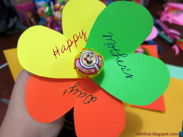 Paper Flower Lollipop