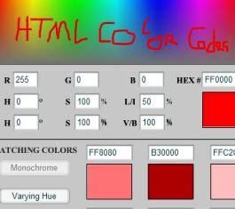 Halaman Kode Warna HTML