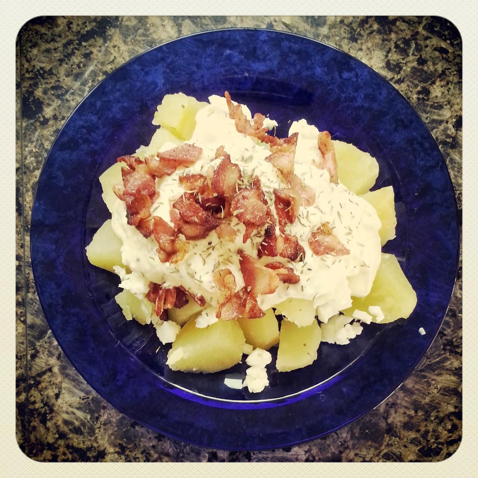 Receta au pair: Ensalada de patata con bacon