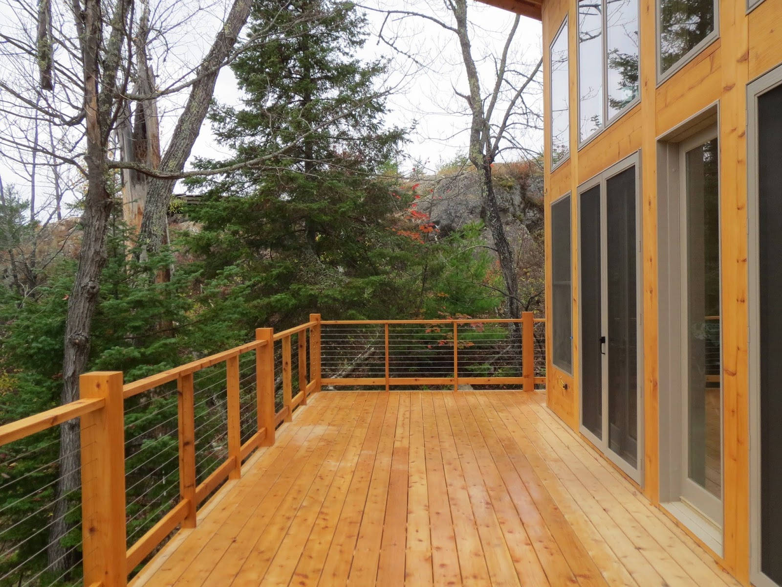Stainless, steel, cable, railing, deck, custom,Ely, MN, Cabin, Huisman