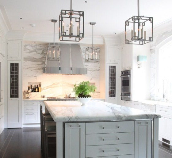 Calacatta Marble Kitchen: The Granite Gurus: Whiteout Wednesday: 5 White Kitchens