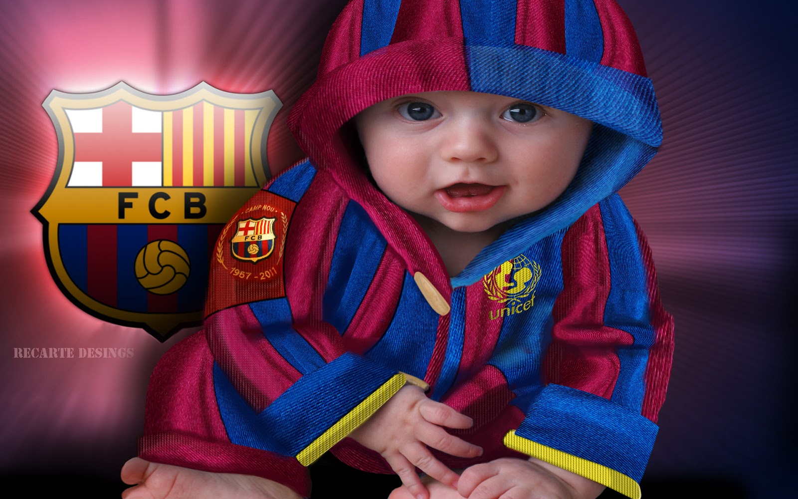 Barcelona Baby Wallpaper  So Cute With Barca Attribute  Its Wide