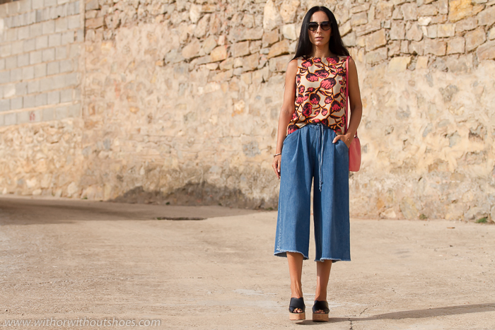 Blogger de moda de Valencia con pantalones culotte