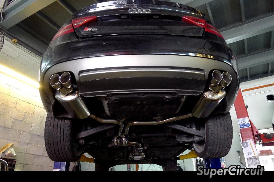 SUPERCIRCUIT Exhaust Pro Shop Audi S Quad Exhaust Custom - Audi s5 custom