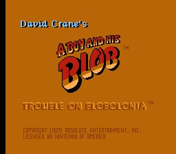A Boy And His Blob Title Screen