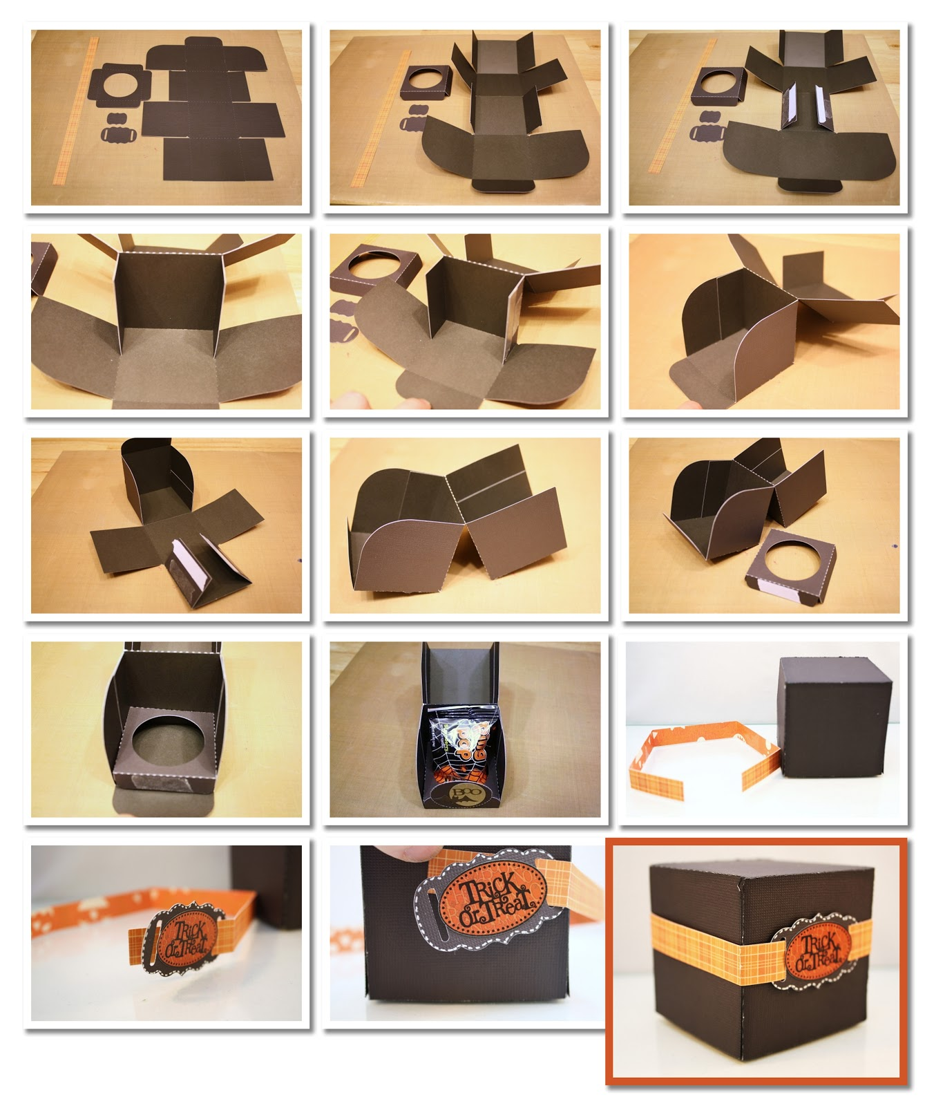 Image Of How To Make A Box Out Of Cardstock Paper Instructions For