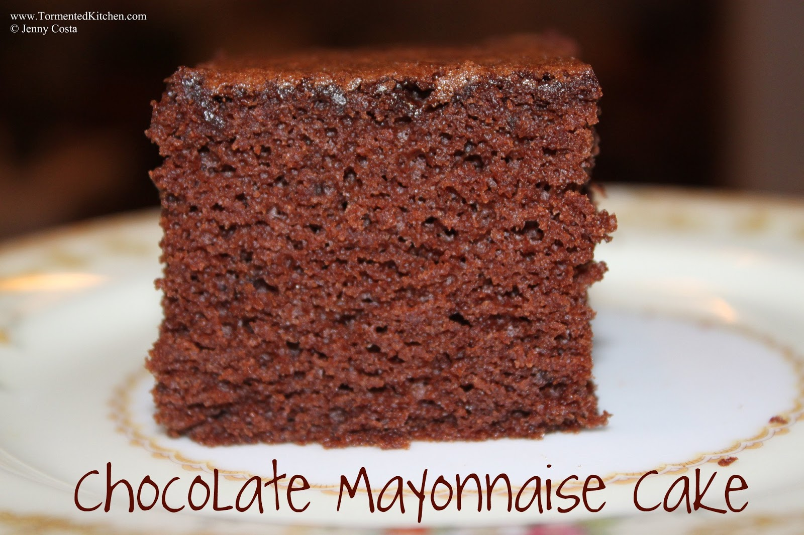 Duncan Hines Chocolate Mayonnaise Cake