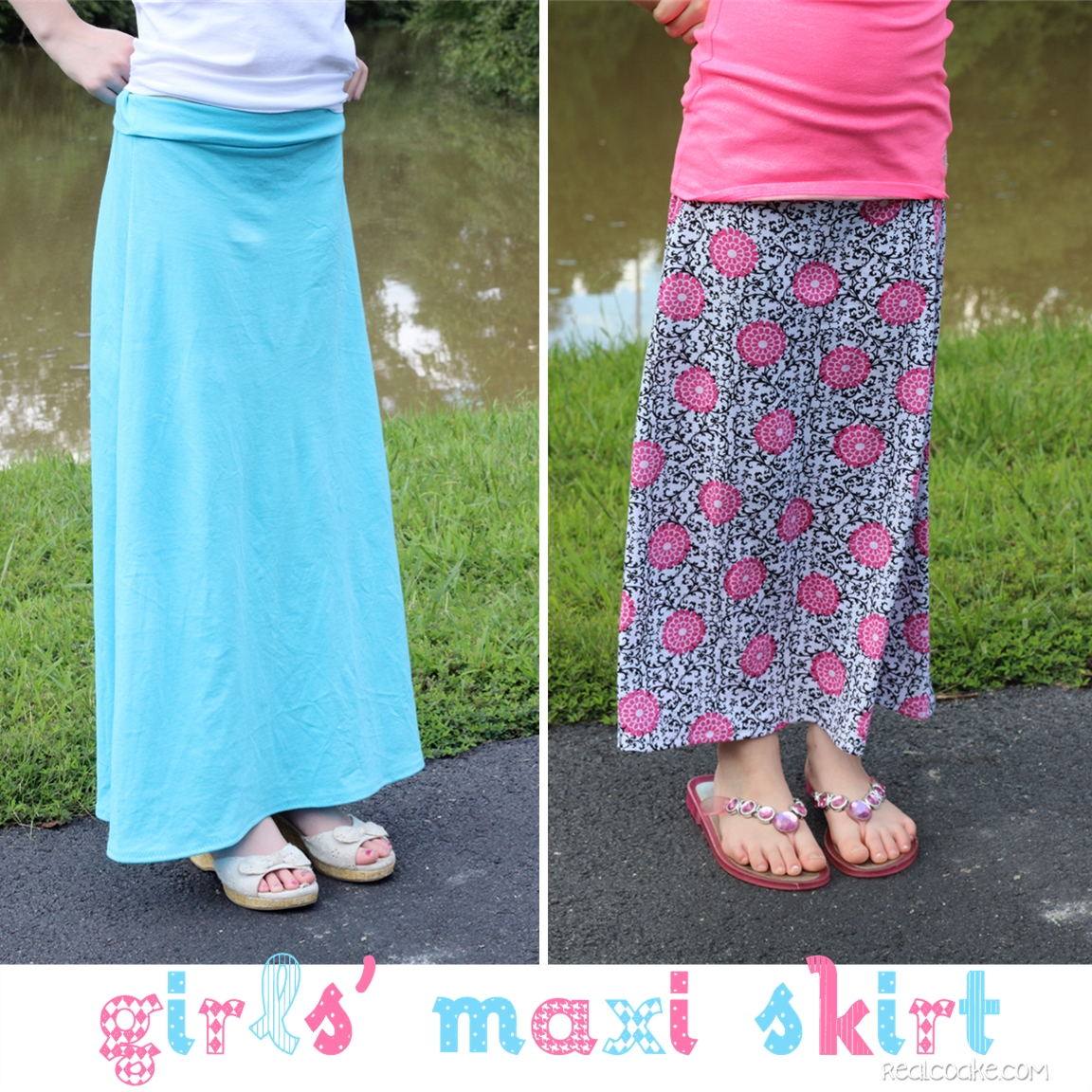 Skirts to the Max {Maxi Skirt Pattern for Girls} - The Real Thing ...