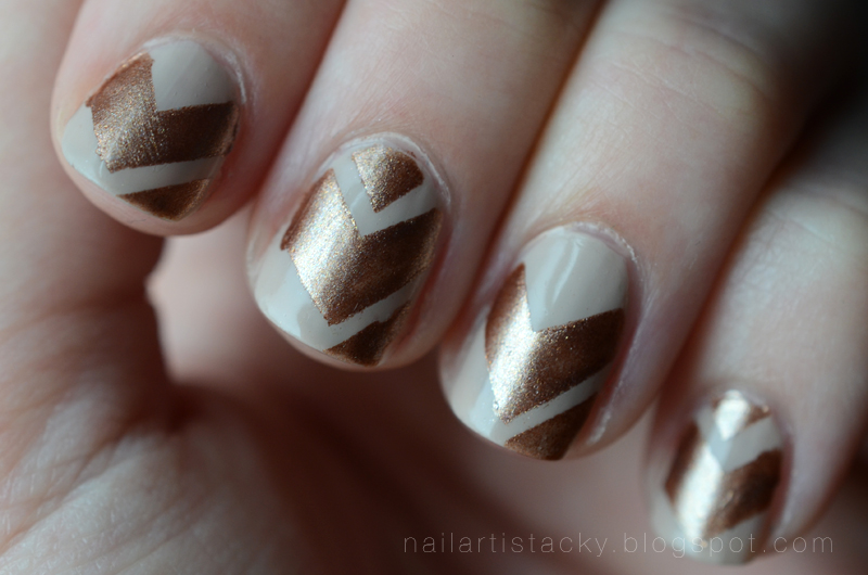 Tribal Nails - Geometric Chevron Nail Art