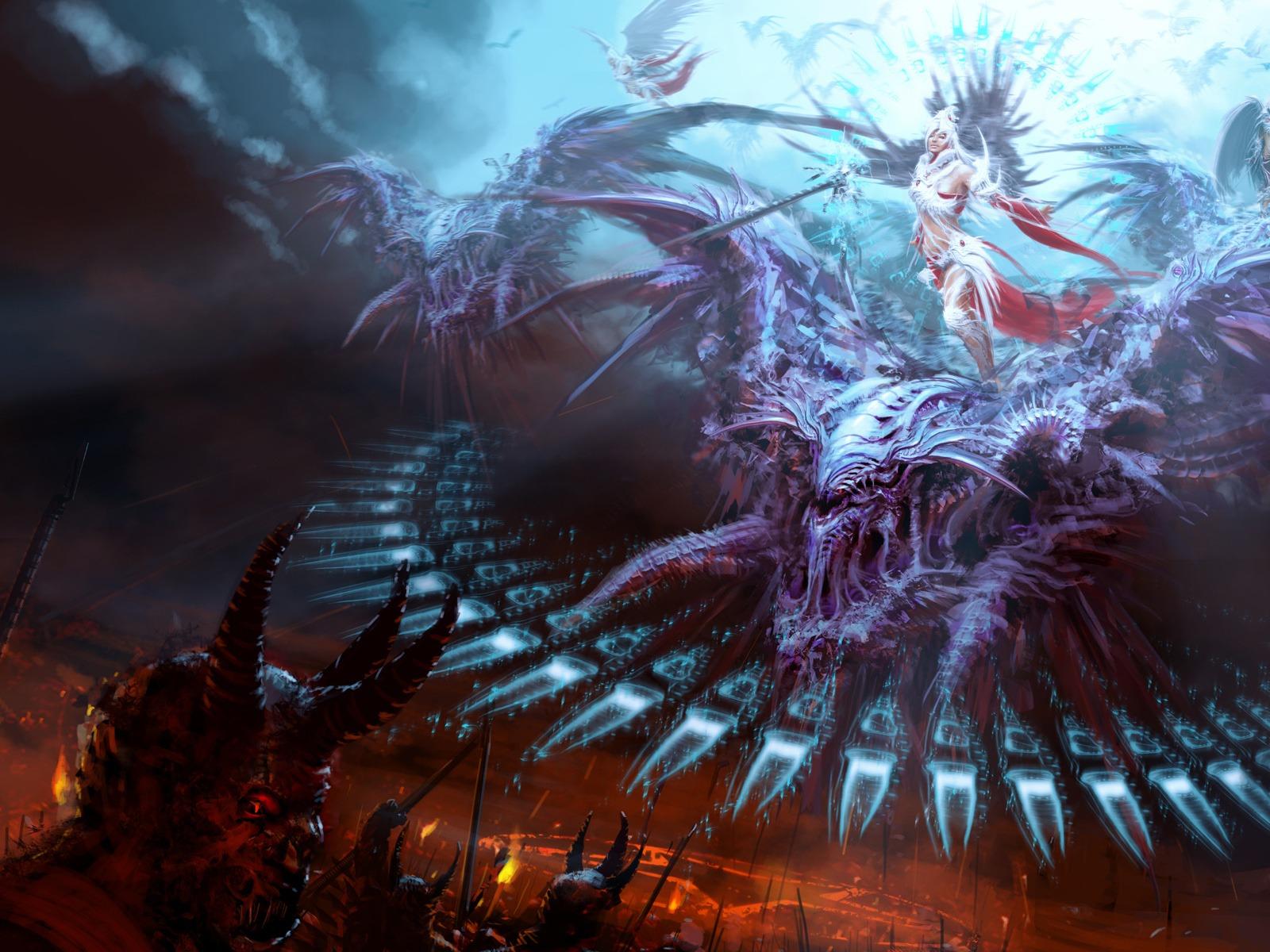 Archangel vs demon
