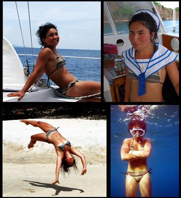 Marigot Bay, St. Lucia, swedish iranian girl sailing, gymnast, snorkeling