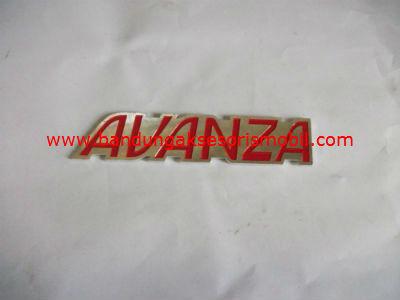 Emblem Alumunium Kombinasi Merah Avanza
