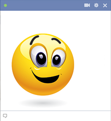 Cheerful emoticon for Facebook